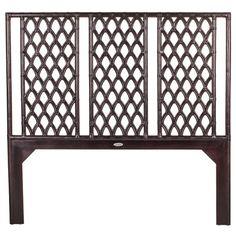 David Francis Furniture Casablanca Wood and Rattan Headboard Queen $1,018