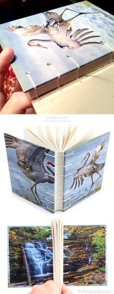 Sandhill Cranes Journal handmade by Ruth Bleakley - would make a nice gift for a birdwatcher