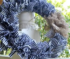Stripped rag wreath by Prototype Mama