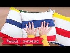Painted Canvas Pillows | Mini Project Class | Michaels & Creativebug - YouTube