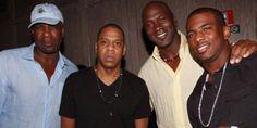 Jay-Z, Michael Jordan, Chris Paul and Charles Oakley, Just Chillin'