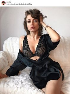 Xenia Tchoumitcheva -  Starting the week right at home in black lace and silk by @intimissimiofficial #intimissimi  Instagram: https://www.instagram.com/p/Bal9JOsjIxr/?taken-by=xenia    Vk: https://vk.com/club131845230  Facebook group: https://www.facebook.com/groups/167417620276194/