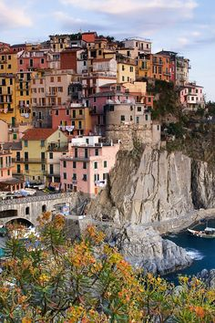 Manarola Italy at Daytime