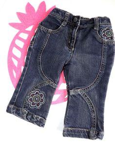 Baby Mädchen Hose Jeanshose Gr. 74 von Sanetta