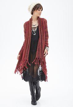 Asymmetrical Tassel Cardigan - Clothing - 2000083720 - Forever 21 EU