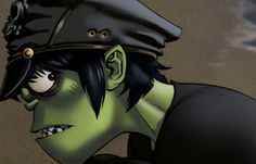 Here is a place where I will post all of the official Gorillaz art. I claim none of this art and it. Art Gorillaz, Gorillaz Plastic Beach, 2d And Murdoc, Monkeys Band, Jamie Hewlett, Bd Comics, Girl Running, Tank Girl, Love Is Free