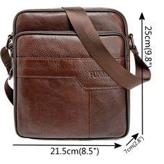 Vintage Men's Brown Genuine Leather Cross Body Messenger Shoulder Bag | jiacase
