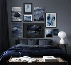 Furnishing ideas and inspiration Art & Living Ideas - Desenio.de Furnishing ideas and inspiration Art & Living Ideas - Desenio. Blue Rooms, Blue Bedroom, Dream Bedroom, Home Decor Bedroom, Bedroom Colour Palette, Bedroom Color Schemes, Bedroom Colors, Gallery Wall Bedroom, Bedroom Wall