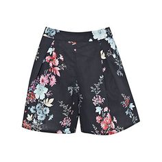 Buy French Connection Genevieve Linen-Blend Shorts, Nocturnal/Multi Online at johnlewis.com