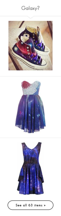 """""""Galaxy♥"""" by cam-with-rush ❤ liked on Polyvore featuring shoes, sneakers, converse, sapatos, chaussures, galaxy shoes, cosmic shoes, galaxy print shoes, planet shoes and nebula shoes"""