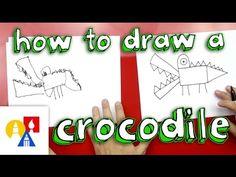 How to draw a crocodile!