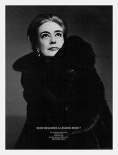 Joan Crawford for Blackglama...