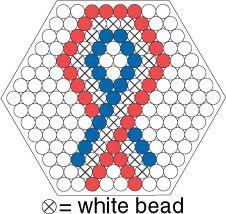 Hama Beads Patterns, Beading Patterns, 17. Mai, Fusion Beads, Melting Beads, Perler Bead Art, Hexagon Quilt, Pearler Beads, White Beads