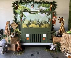 Safari jeep photo backdrop - New Deko Sites Safari Theme Birthday, Jungle Theme Parties, First Birthday Party Themes, Wild One Birthday Party, Safari Birthday Party, 1st Boy Birthday, Birthday Ideas, Safari Jeep, Diy Backdrop