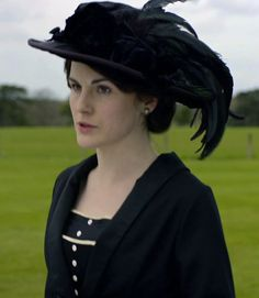 Lady Mary mourning P.Crawley- Downton Abbey hats and costumes