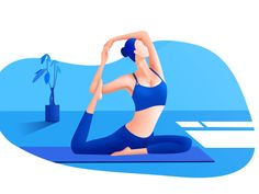Yoga illustration designed by WANZHI for Top Pick Studio. Connect with them on Dribbble; Yoga Illustration, Portrait Illustration, Character Illustration, Digital Illustration, Customer Experience Quotes, Customer Journey Mapping, User Experience Design, Design Ios, Vector Design