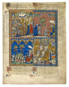 Divine Judgment; A Father's Blessing; Isaac's Despair; A Marvelous Vision | Fol. 4r | The Morgan Library & Museum