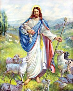Jesus: The Good Shepherd by Bernhard Plockhorst