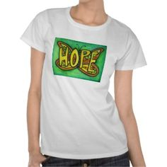 Hope Butterfly Word Art Personalized Tee Shirts