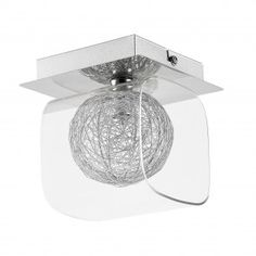 17 Stories The chic ceiling light makes an impression with its individual and stylish design. Ceiling Spotlights, Flush Ceiling Lights, Dar Lighting, Chrome Finish, Glass Shades, Bulb, Modern, Silver, Chic
