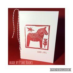 #christmascard; #scandinaviancard; #weihnachtskarte;#hygge;#julkort; #handcarvedrubberstamps; #cartolinadinatale; #handgeschnitztestempel; #diyrubberstamps;#linocut;#linolschnitt;#julekort; #dalapferd;#dalahorse;#jul;#natale;