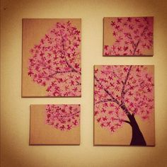 cherry blossom canvases