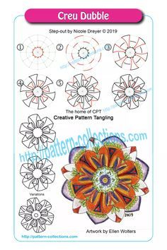 News, new patterns, videos, and template of the week – pattern-collections.com Zen Doodle Patterns, Doodle Art Designs, Zentangle Patterns, Mandala Pattern, Doodle Borders, Tangle Doodle, Tangle Art, Zentangle Drawings, Doodles Zentangles