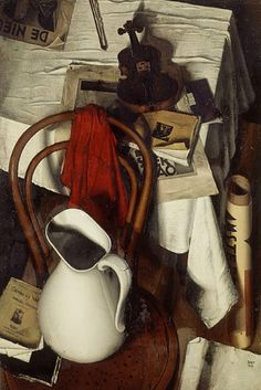"""huariqueje: """" Still Life with Red Rag - Dick Ket , 1931 Dutch, Oil on canvas, x 60 cm. Still Life Drawing, Painting Still Life, Still Life Art, Andrew Wyeth, Dutch Still Life, Edward Hopper, Magic Realism, Realistic Paintings, Dutch Painters"""