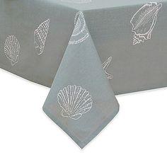 Shell Season Fabric Tablecloth