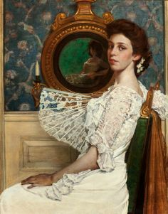 Portrait of Mildred Stokes, 1901 by William Sergeant Kendall (American, 1869-1938)