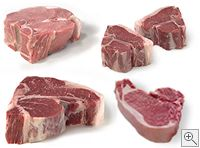 Porterhouse Sampler Package - The perfect gift for Father's Day for dads who love meat, food, steak, or grilling! Includes USDA Prime Dry-Aged Porterhouse Steaks, Veal Porterhouse Chops, Berkshire Pork Porterhouse Chops, and All-Natural Lamb Loin Chops. #MyLobels