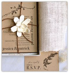 rustic invitations | rustic, wedding invitations, burlap, country - inspiring picture on ...