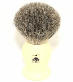Shaving Stand, Badger Shaving Brush, Ivory, Pure Products, Hair Removal, 100 Pure, Knot, Handle, Personal Care
