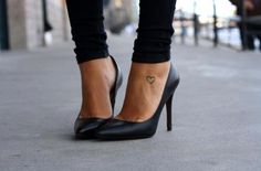 nice shoes with heart tatoo