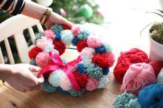 Take Courage: DIY: Pom Pom Christmas Wreath