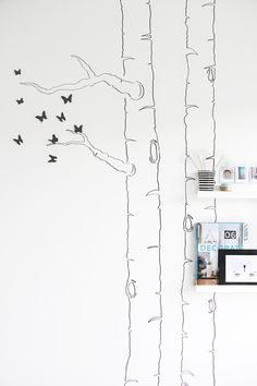 How to make a butterfly tree - branch - brunches - tree stump - trunk - bird - birds - shelf - walldecor