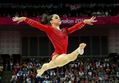 Jordyn Wieber of the United States of America performs on the floor exercise in the Artistic Gymnastics Women's Team final on Day 4 of the London 2012 Olympic Games at North Greenwich Arena on July 31, 2012 in London, England.