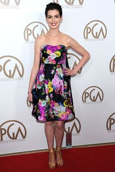 Anne Hathaway in Erdem pre-autumn/winter 2013-14