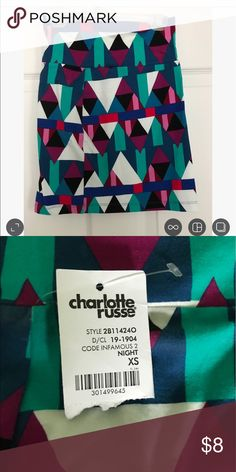 NWT Charlotte Russe Pencil Skirt New with tags; pencil skirt; xs Charlotte Russe Skirts Pencil
