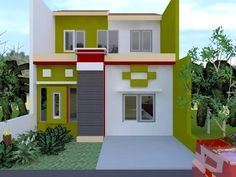 70 Minimalist And Classic House Color Designs kamar atas sederhana 2 Storey House Design, Small House Design, Minimalist House Design, Modern Minimalist, Outside House Colors, Exterior Color Combinations, Kitchen Paint Colors, Interior Concept, Exterior House Colors