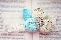 such a sweet vintage #tiffany blue rosette #lace #garter