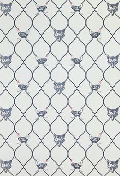 Fox & Hen Wallpaper, Designer wallpapers for walls and designer upholstery fabrics   Barneby Gates
