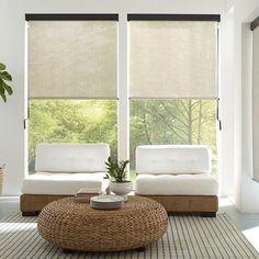 Heavy Duty Outdoor Solar Shades | Blinds.com Porch Shades, Door Shades, Shades Blinds, Solar Screens, Privacy Screens, Patio Shade, Outdoor Shade, Space Dividers, Interior Windows