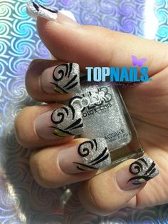 Acrylic Nails desing and glitter nails by TopnailsChile from Nail Art Gallery