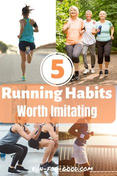 How do some runners avoid injuries, run strong, and stay motivated? Here are some good running habits that can keep you running healthy and happy. Running Form, Running Plan, How To Start Running, Running Workouts, Running Tips, Glute Workouts, Running Routine, Running Humor, Trail Running