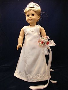 White Evening Gown by Pidgit4Dolls on Etsy