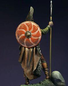 Slavic Warrior, VII century A. William Wallace, Modelista, Inca, Fantasy Miniatures, Metal Models, Concept Art, Sculpture, Painting, British Uniforms