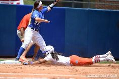 Florida loaded the bases following a pair of singles by junior Kelsey Stewart and freshman Nicole DeWitt and a walk from junior Kirsti Merritt. Junior Taylore Fuller was then hit-by-a-pitch to plate Stewart and give UF a 1-0 lead. Kvistad then bashed a bases-clearing double over UK's right fielder to give UF a 4-0 advantage.
