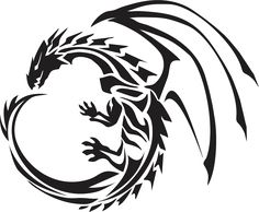 Tribal Dragon PT 1 by OvanReed on DeviantArt