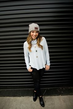 Love your melon beanie! With a some free people and old navy Autumn Winter  Fashion 09ced1b71ad